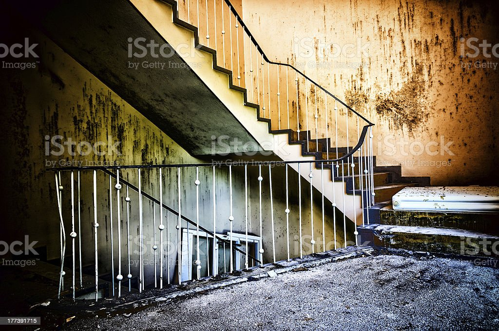 Old and ramshackle stock photo