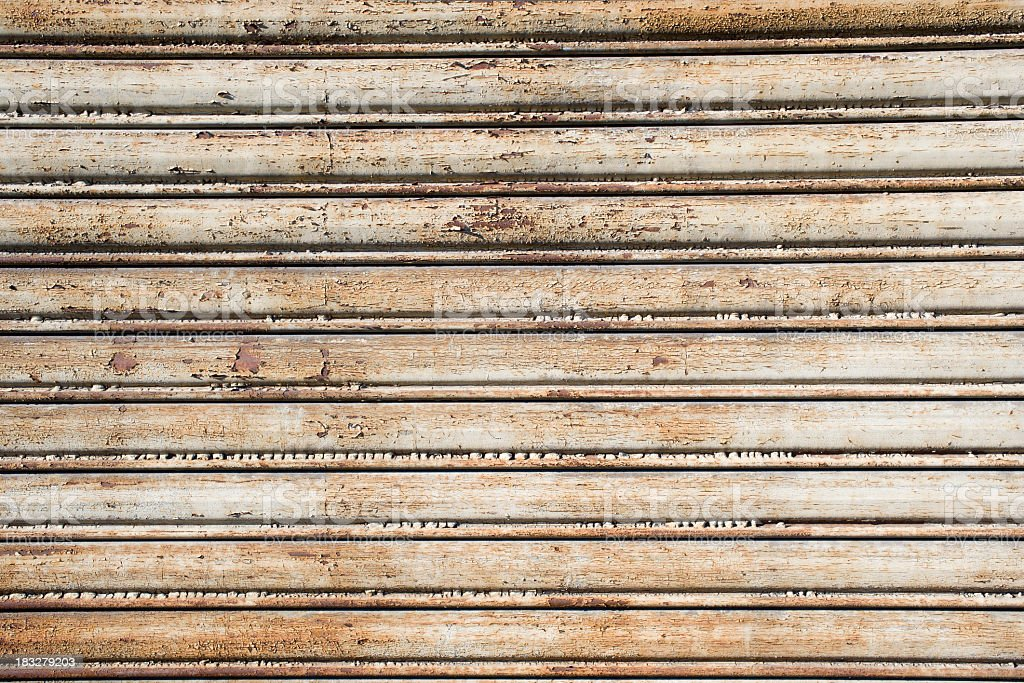 Old And Ruined Garage Cloes Up royalty-free stock photo