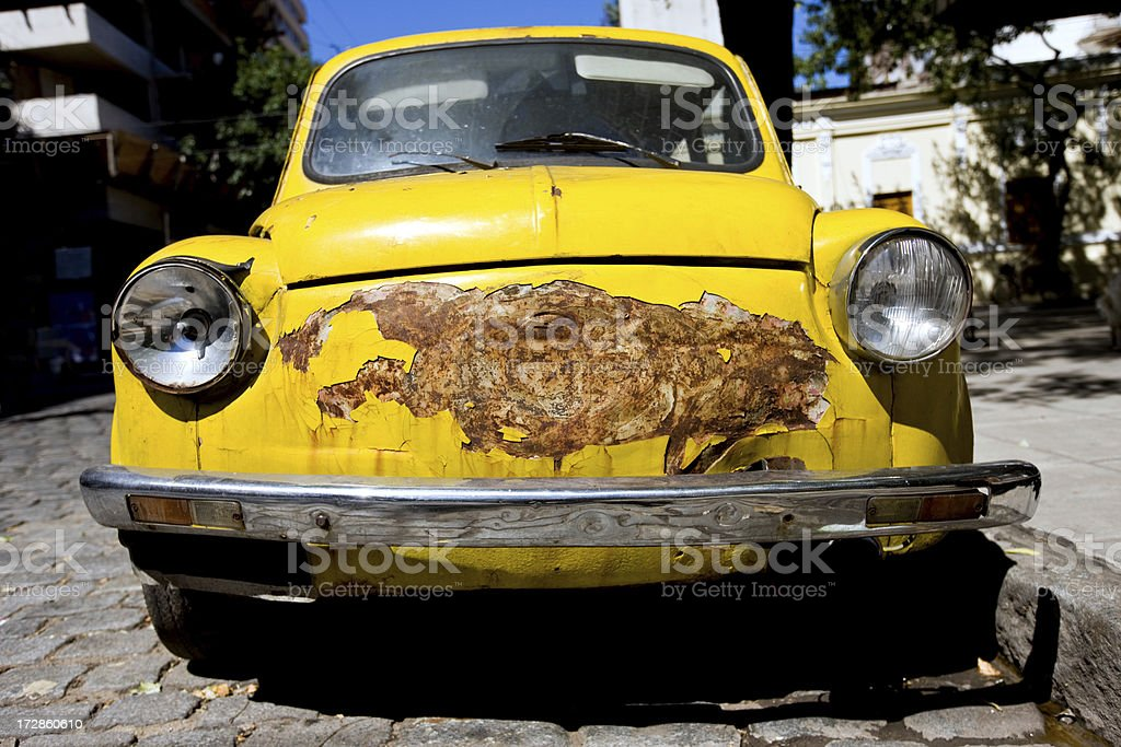 old and rusted car royalty-free stock photo