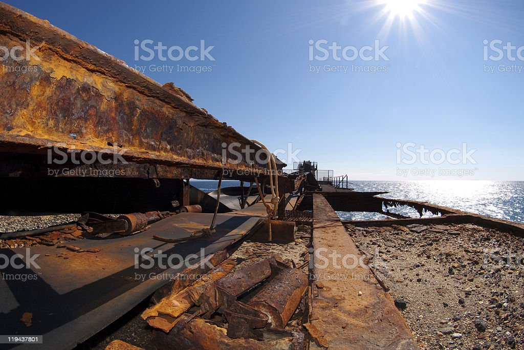 old and rusty conveyor system royalty-free stock photo