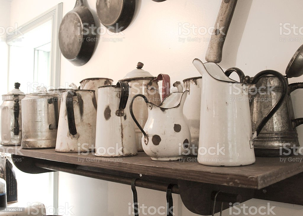 old and rusty pots & pans royalty-free stock photo