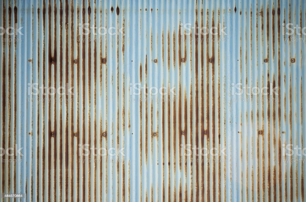 old and rusty  zinc plate wall for background stock photo