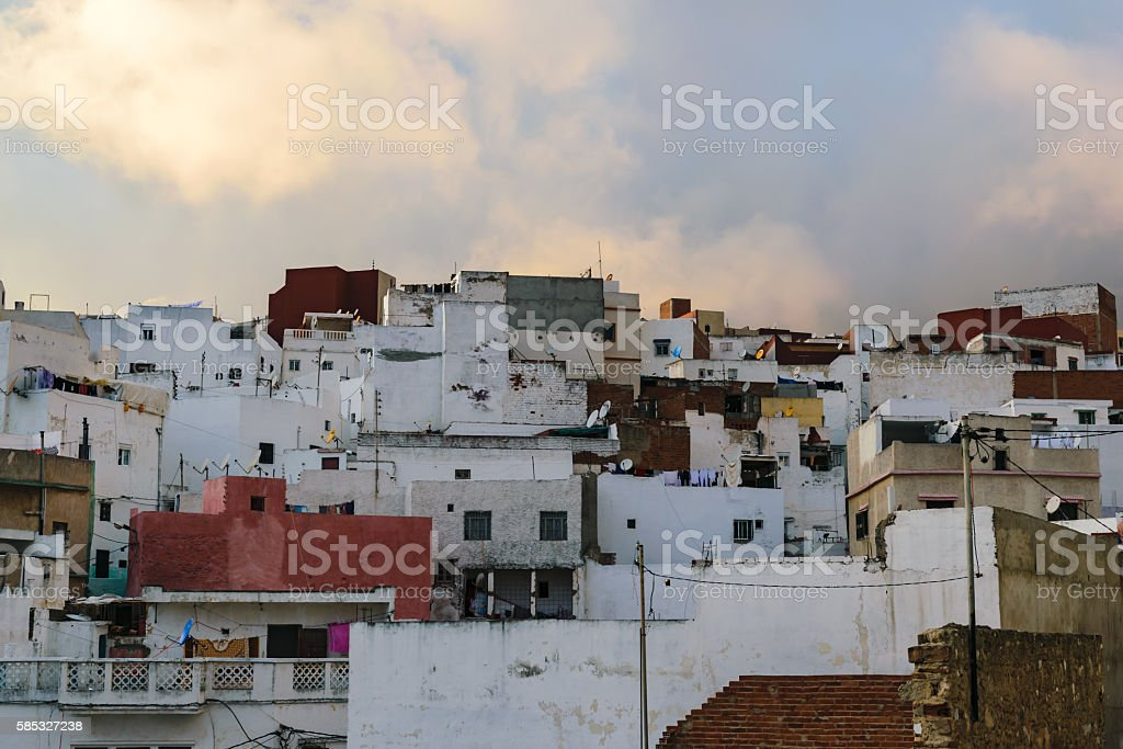 Old and small houses, Tetouan, Morocco stock photo