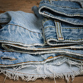 Old and Torn jean