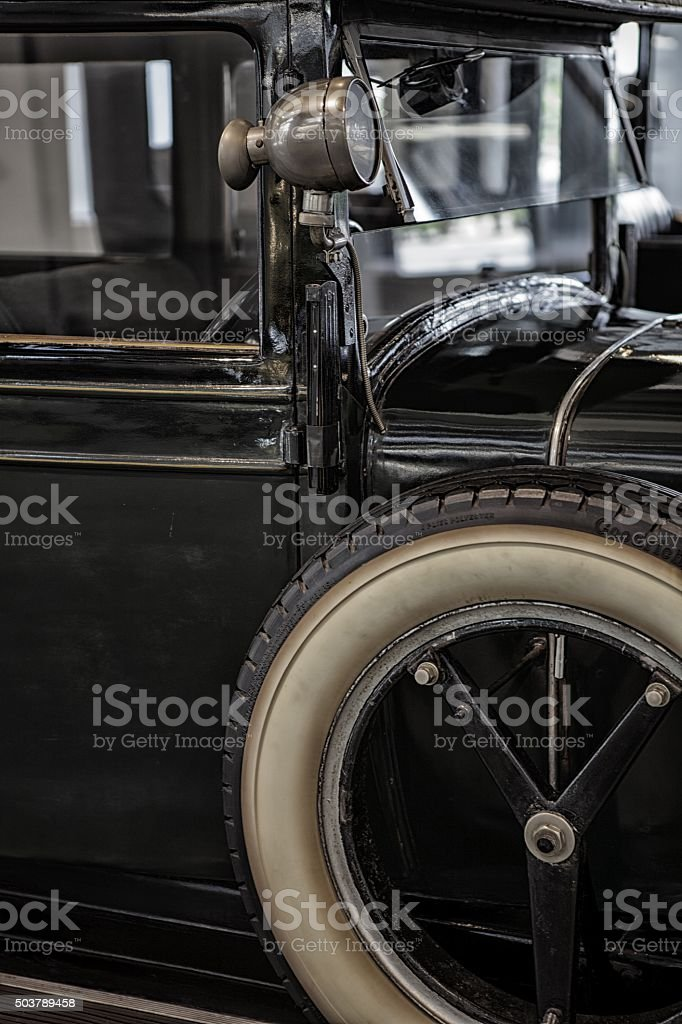 old and vintage car stock photo