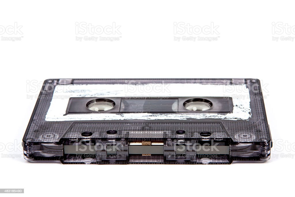 old and vintage cassette tape isolated stock photo