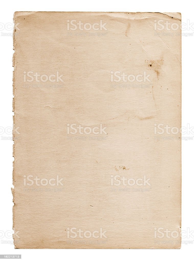 old and worn paper stock photo