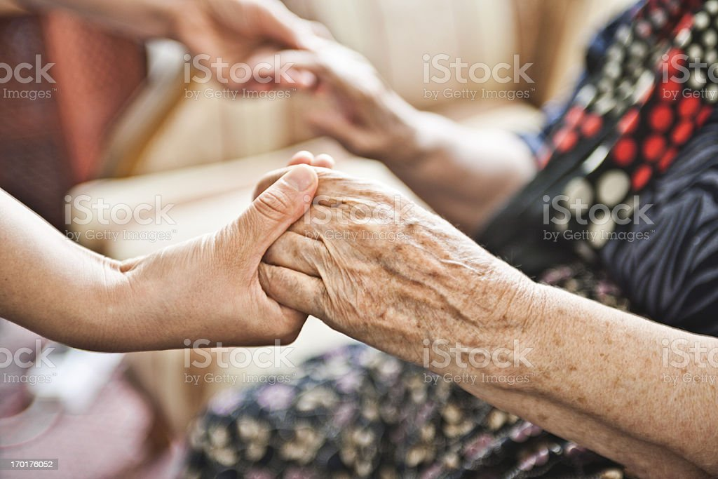 Old and Young stock photo