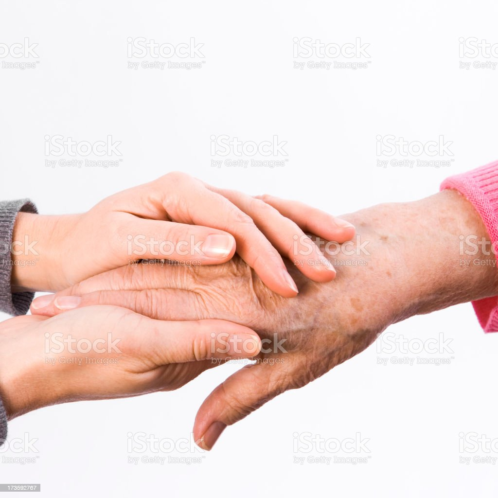 Old and young together royalty-free stock photo