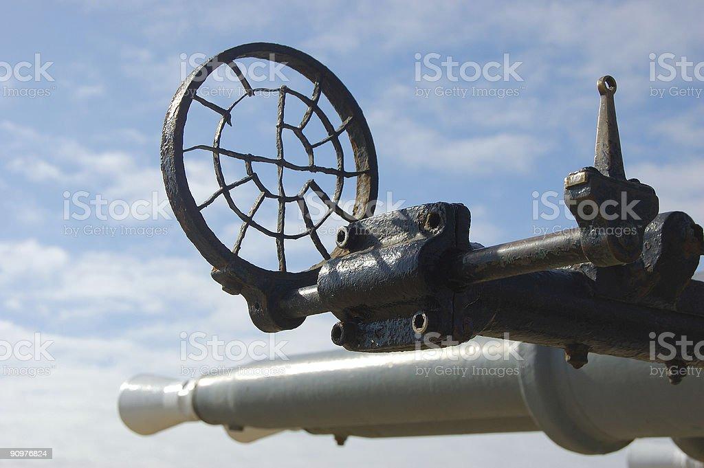 Old Anti-aircraft guns stock photo