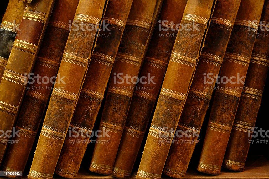 old antique books stock photo