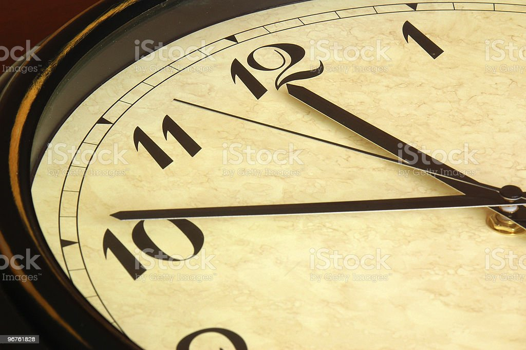 Old Antique Clock Face stock photo