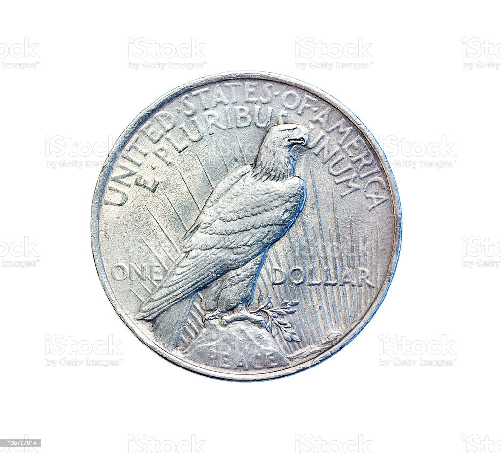 Old antique coin stock photo