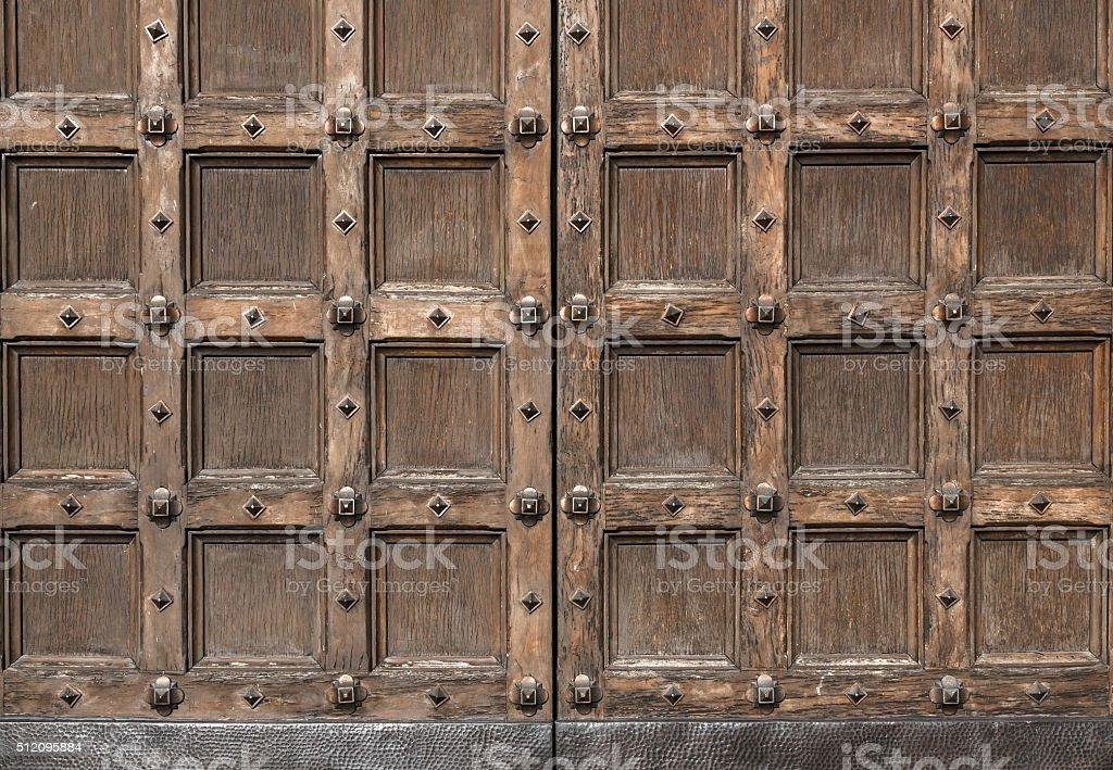 Old antique door stock photo