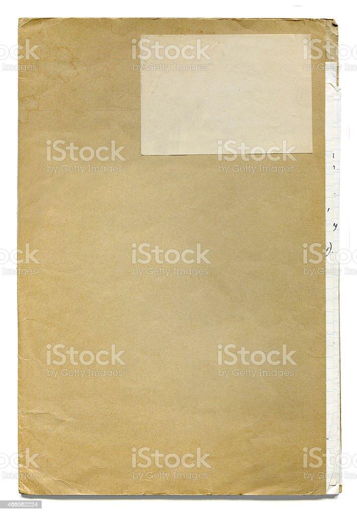 Vecchio antico cartella del File (con clipping path) foto stock royalty-free