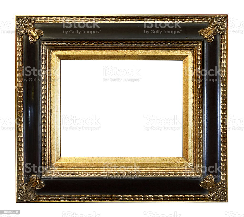 old antique Gilded Picture Frame royalty-free stock photo
