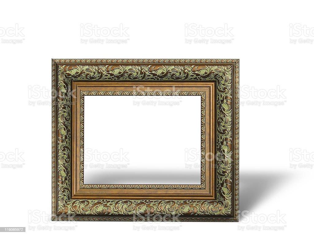 Velhos antigo ouro moldura com um decorativo imagem padrão foto de stock royalty-free