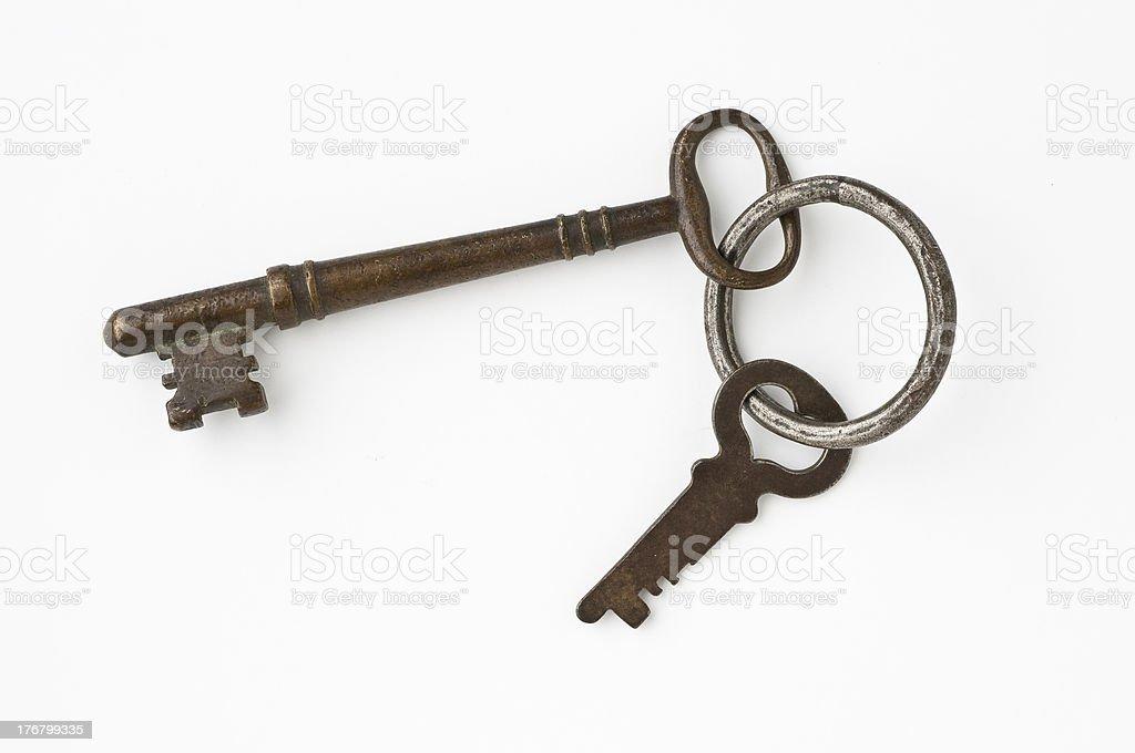 Casco antiguo de llaves foto de stock libre de derechos