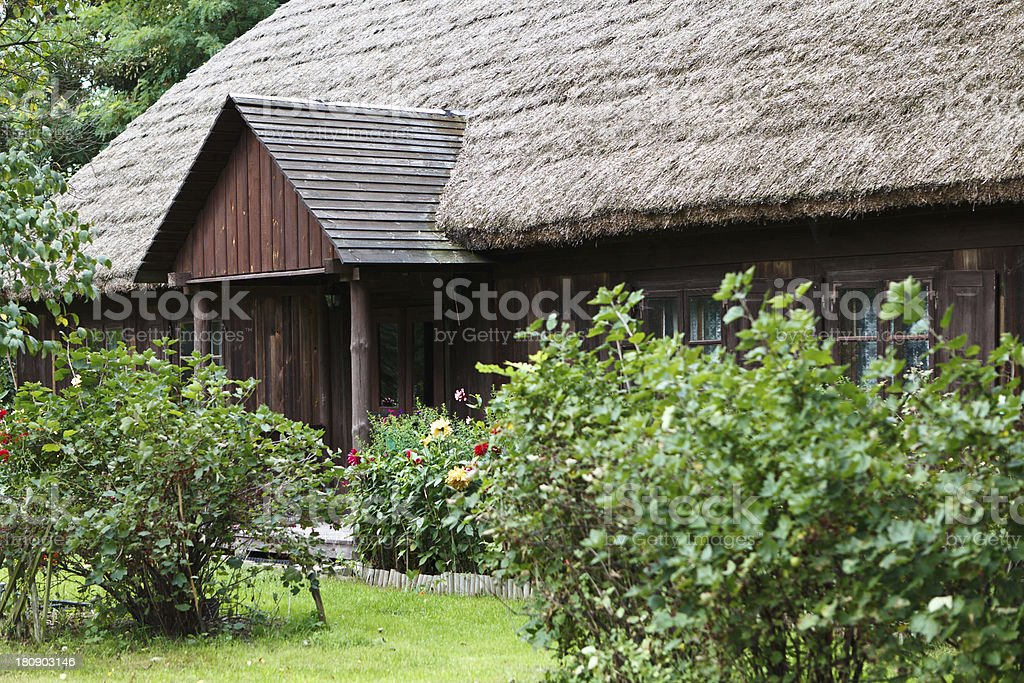 Old antique rural house royalty-free stock photo