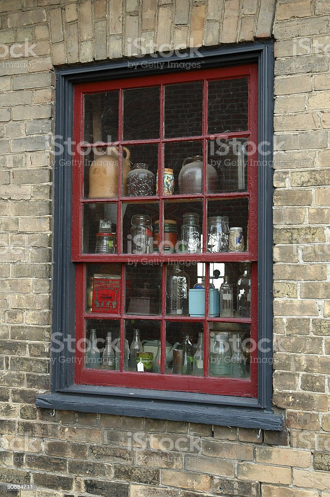 Old Antique Shop Window royalty-free stock photo