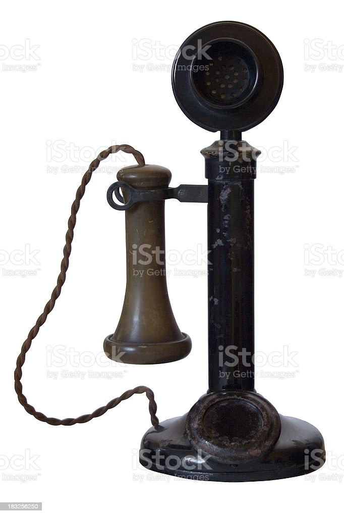 Old Antique Telephone (with path) stock photo