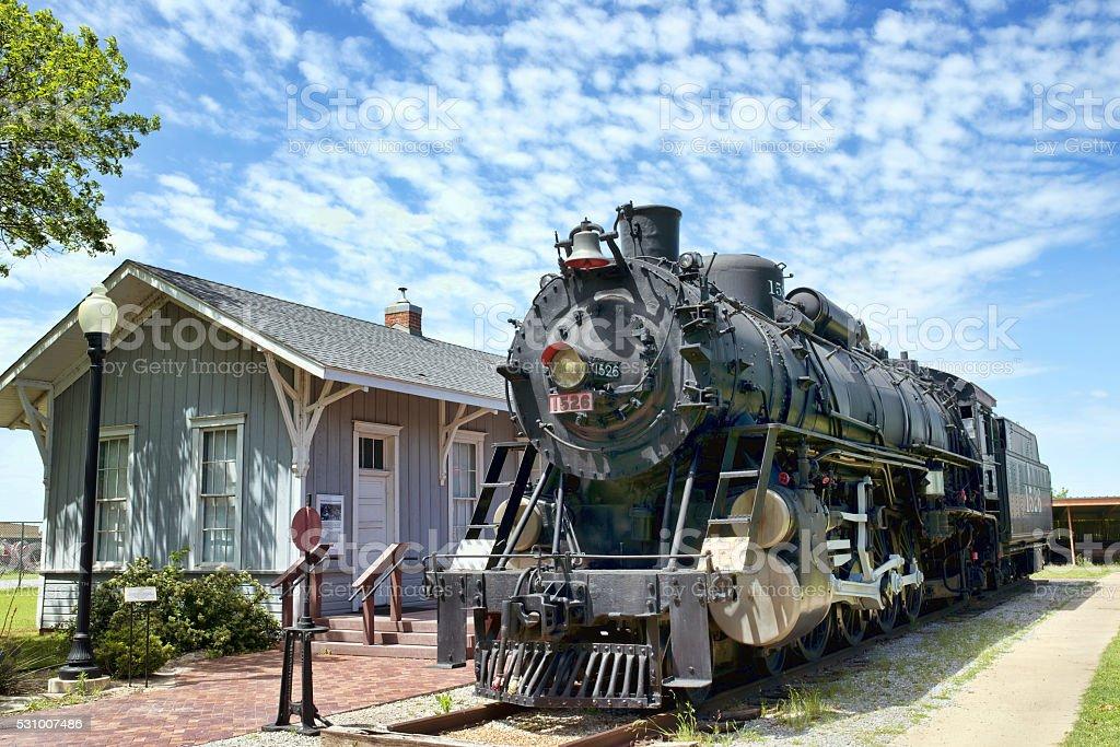 Old antique Train. stock photo