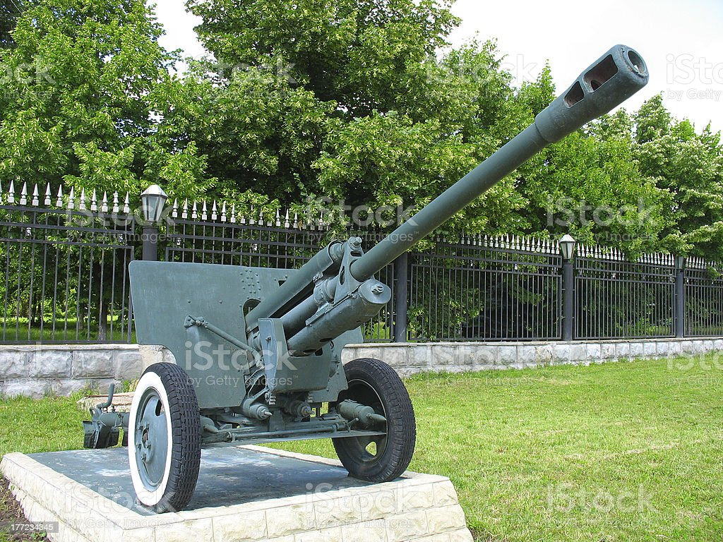 Old anti-arma de depósito cannon foto de stock royalty-free