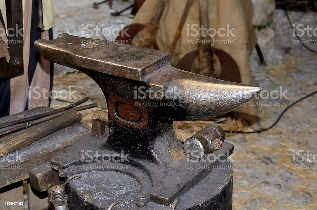Old anvil royalty-free stock photo