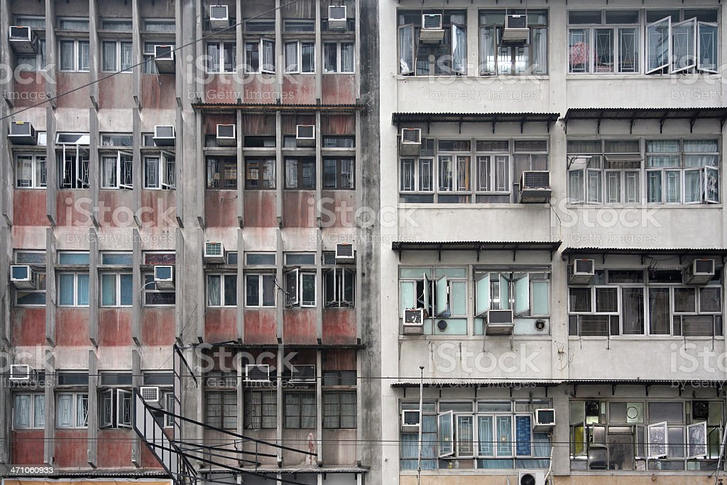 Old Apartment Building Exteriors royalty-free stock photo