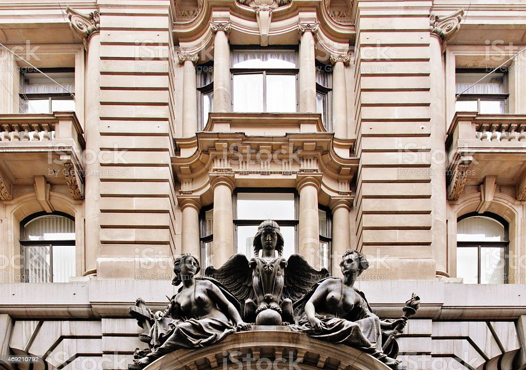 Old Apartment Building in London stock photo