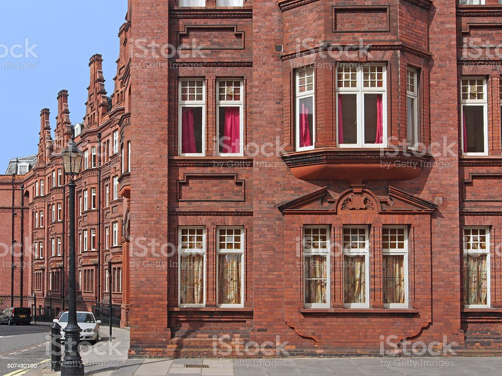 old apartment building stock photo