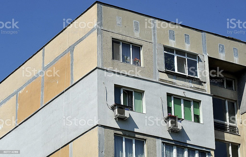 Old apartments in Bulgaria royalty-free stock photo