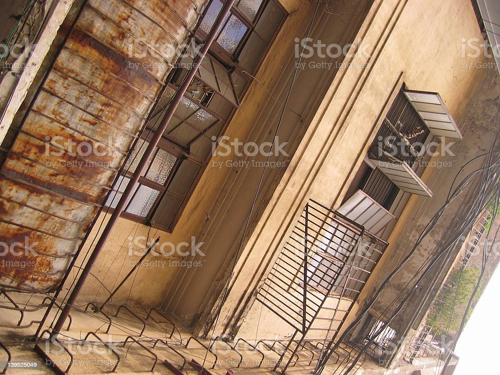 Old Apartments royalty-free stock photo
