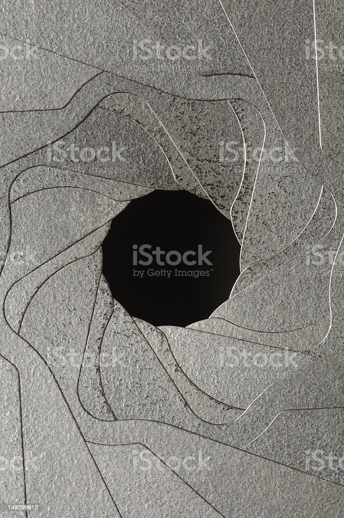 old aperture ring royalty-free stock photo