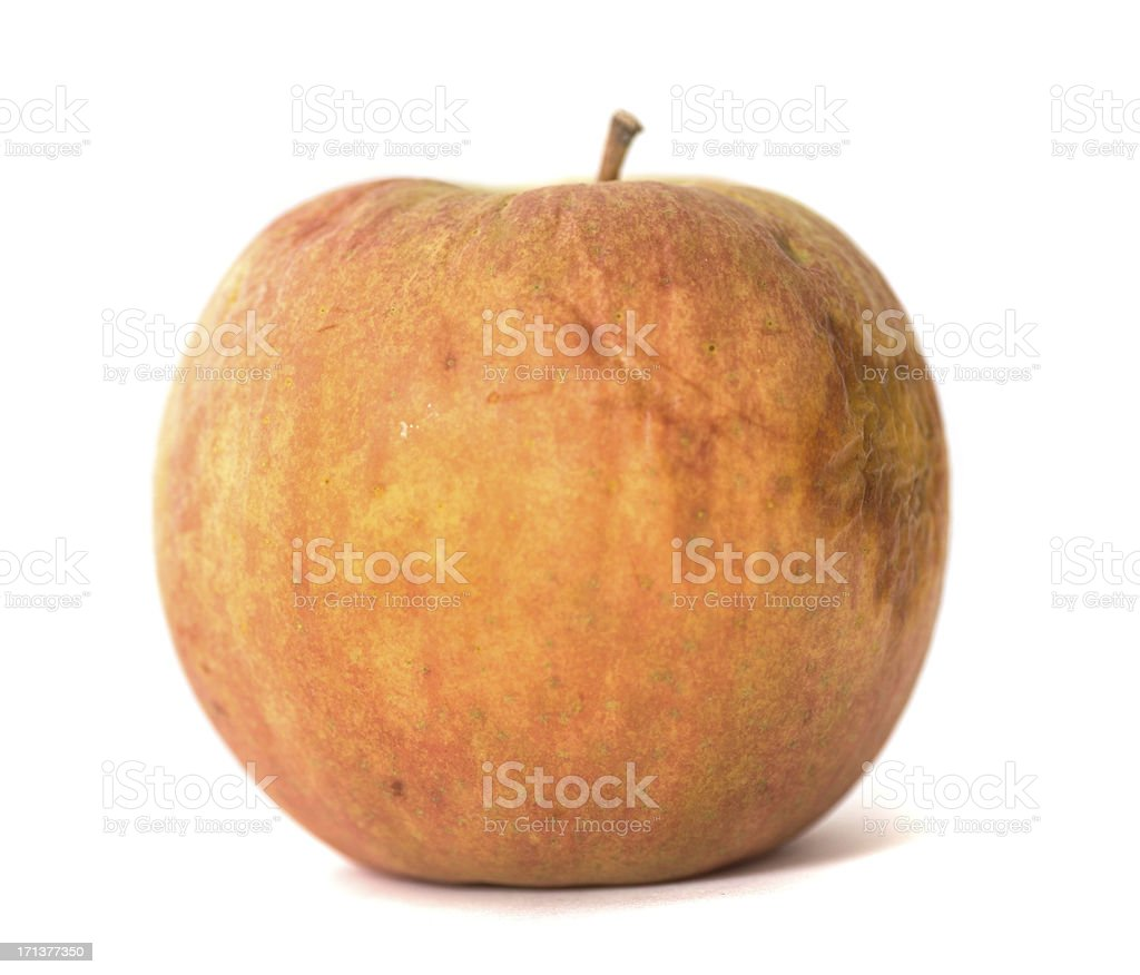 old apple isolated on white stock photo