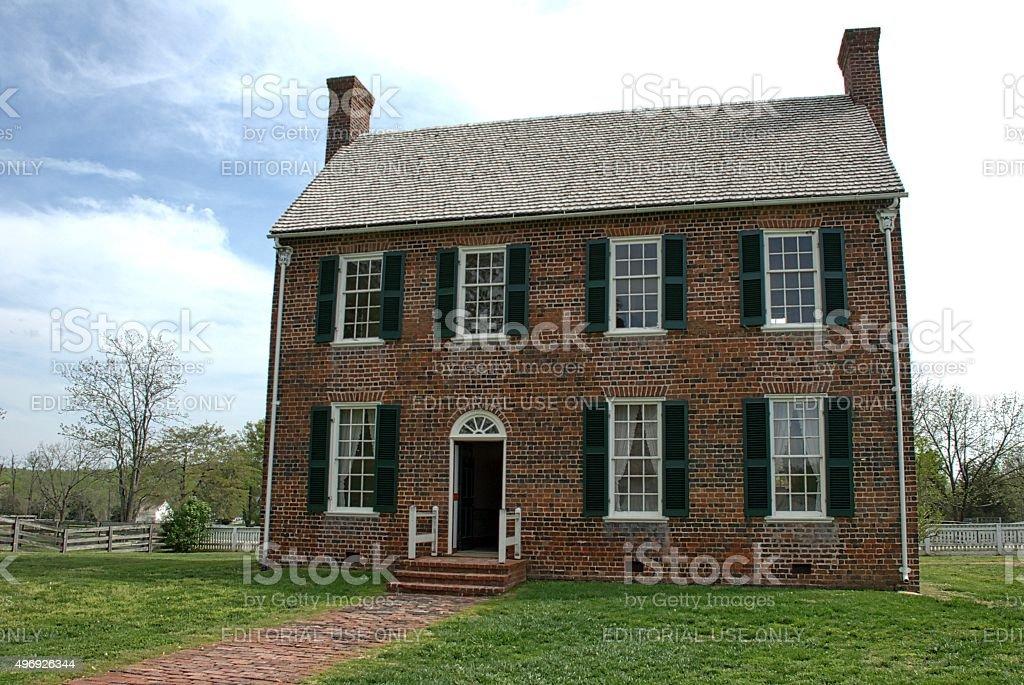 Old Appomatox Courthouse stock photo