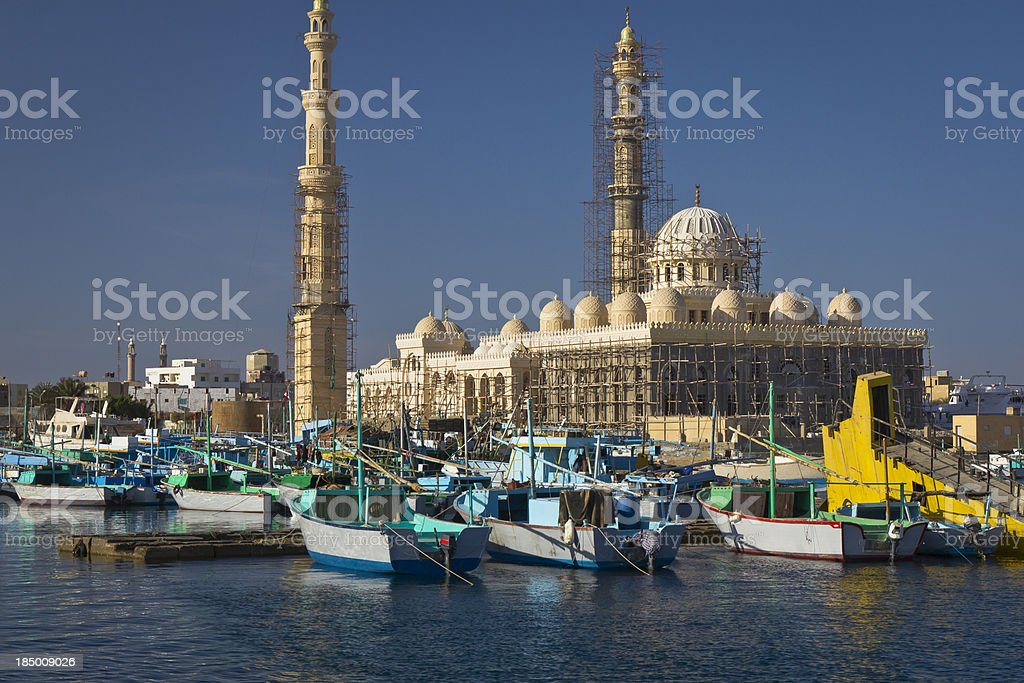 Old Arabian Marina stock photo