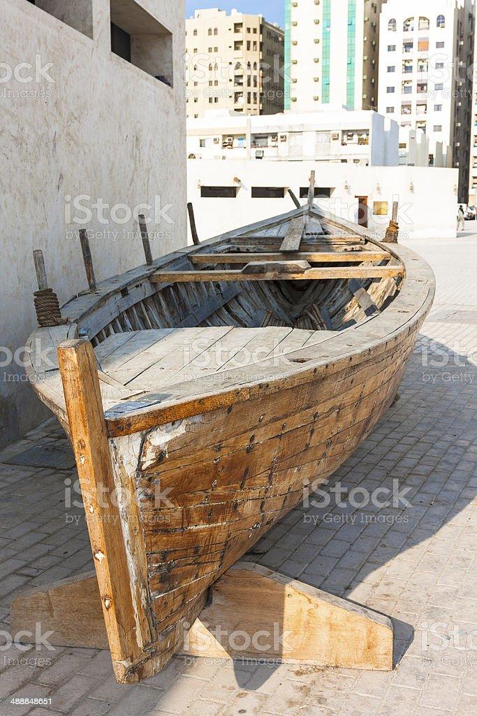 Old arabic boat royalty-free stock photo