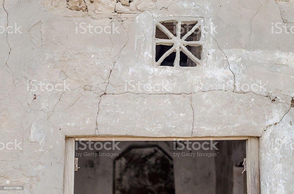 Old Arabic doorway detail stock photo