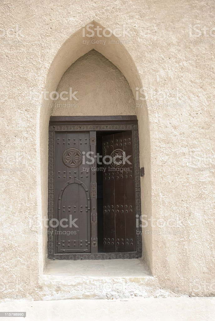 Old Arabic front door royalty-free stock photo