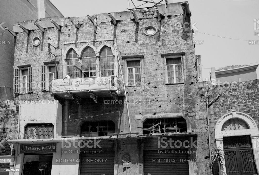 Old arabic hostel at beirut lebanon stock photo