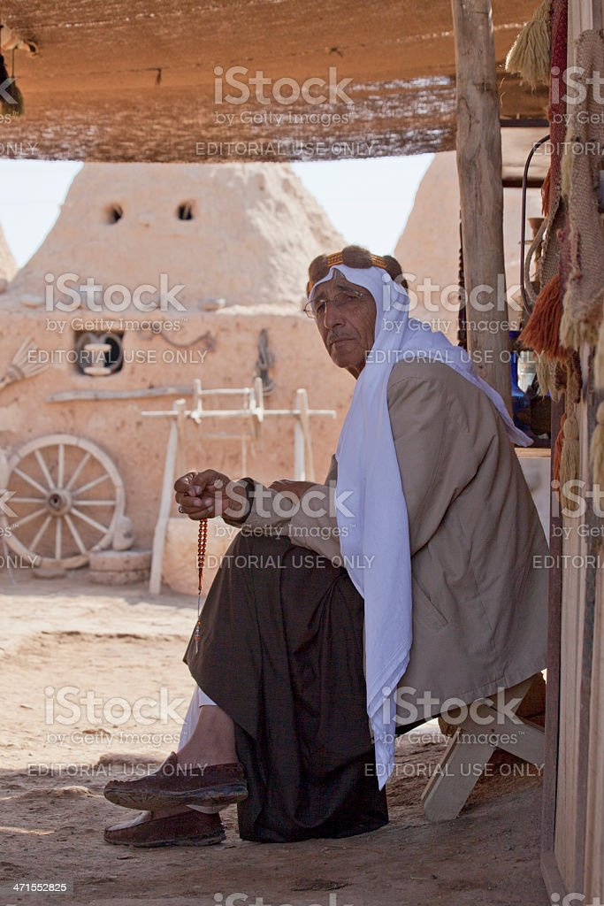 old arabic person at harran urfa turkey stock photo