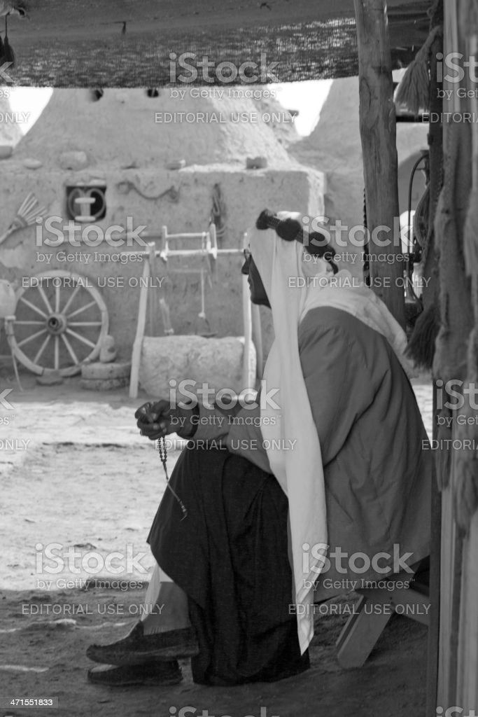 old arabic person with traditional clothes at harran urfa turkey stock photo
