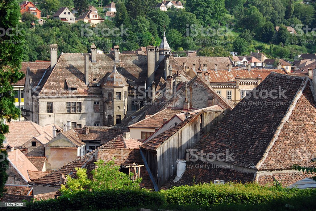 Old architecture, Sighisoara, Romania royalty-free stock photo