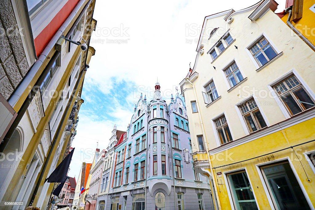 Old Architecture, Tallinn, Estonia stock photo