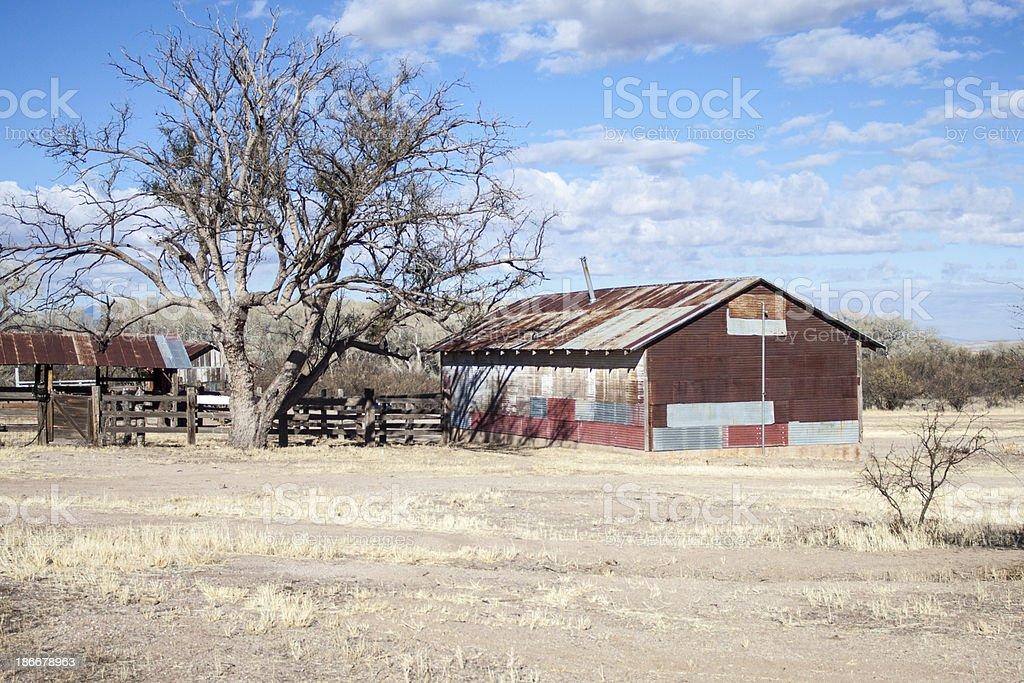 Old Arizona Ranch stock photo