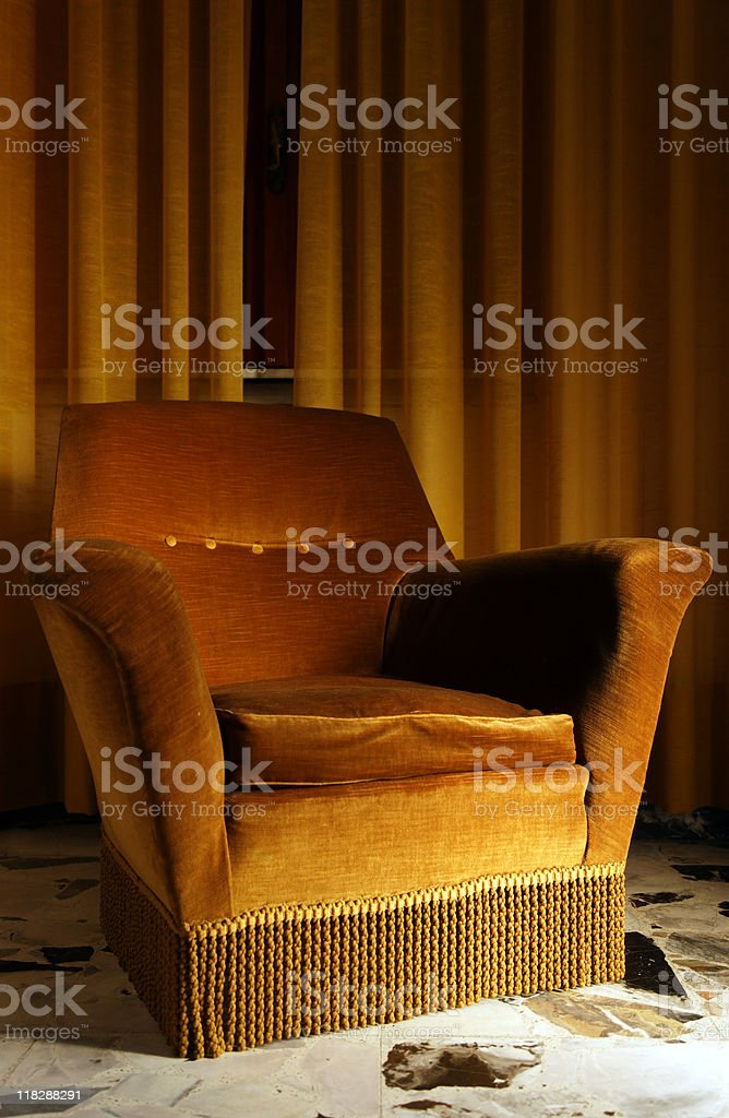 Old Armchair in a Bed and Breakfast. Color Image royalty-free stock photo