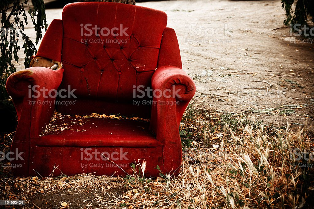 Old Armchair stock photo