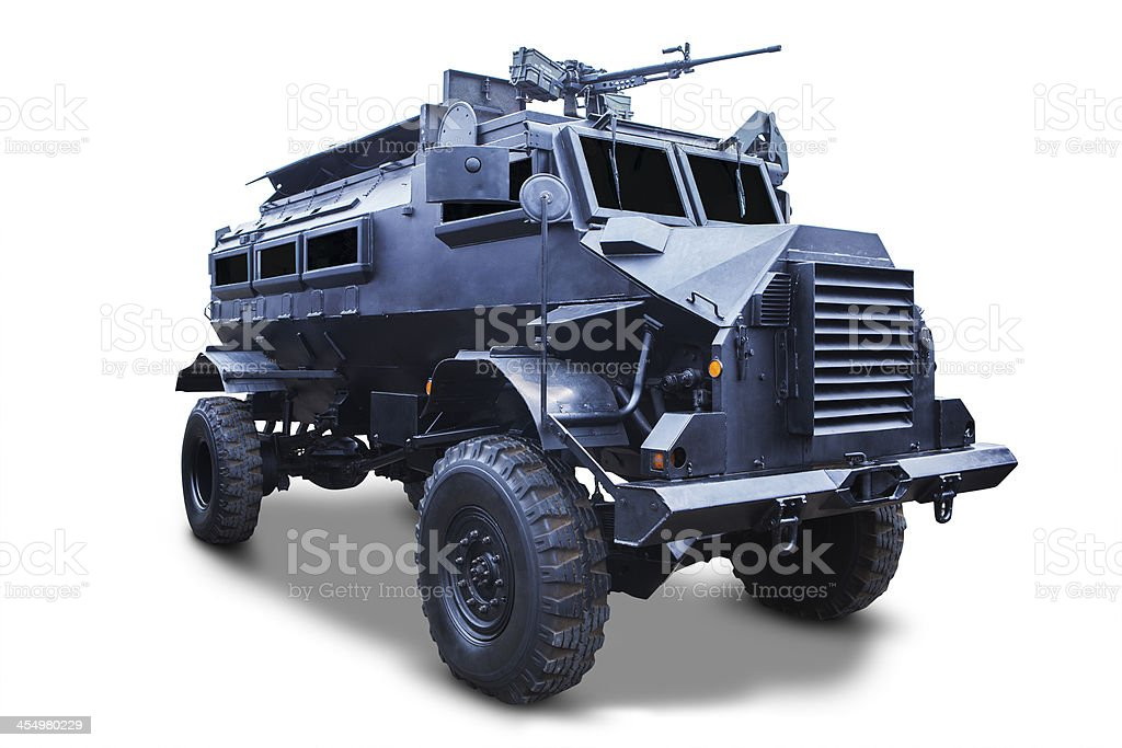 Old armored car stock photo