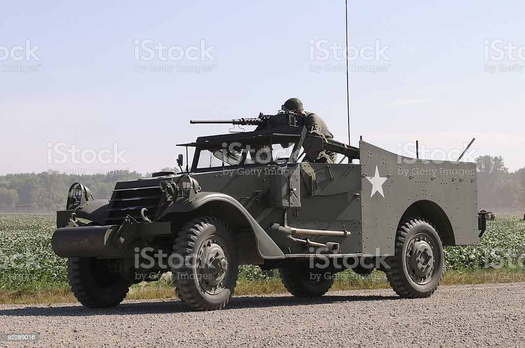 Old armored car royalty-free stock photo